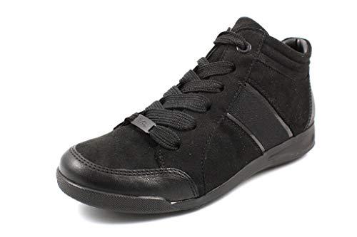 ARA Damen ROM 1244452 Hohe Sneaker, Schwarz (Schwarz 01), 38 EU