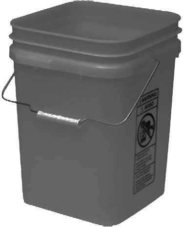 Gray Economy Square 4 Ranking safety integrated 1st place Gallon Bucket Pack 18 Plastic