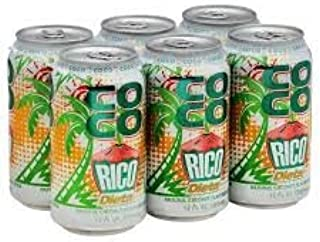 Diet Coco Rico - Natural Coconut Flavored Soda from Puerto Rico - 12 Fl Oz Can per Six Pack (Count of 2)