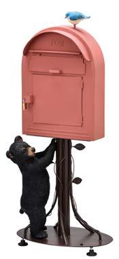 ポスト 郵便受け スタンド スタンドポスト 置き型ポスト おしゃれ 郵便ポスト 南京錠付き リトルベア レッド