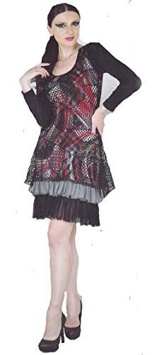 Dzhavael Couture Salsa Dress (Black/Red, Medium)