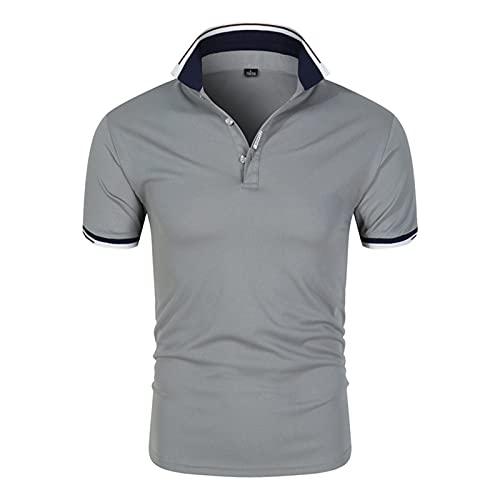 XDJSD Camisas Polo para Hombres, Camisetas Cortas De Manga Corta para Hombres, Camisetas para Hombres, Camisetas para Hombres con Solapa, Tops Casuales De Moda De Color Puro