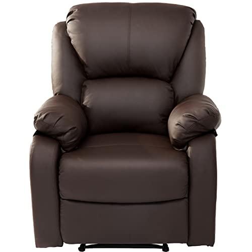 SUNWEII Sillón Relax Sillón reclinable, sillón TV Sillón con reposapiernas Ajustable Sillón TV de Cuero sintético Sillón reclinable Sillón TV 160 ° Respaldo Alto para Cine,2pcs