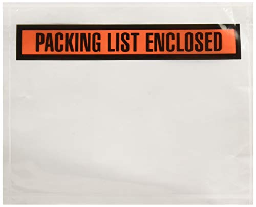 """SALES4LESS Packing List Envelopes 7.5"""" X 5.5"""" Pouches Invoice Enclosed Adhesive Bags Pack of 500 (PL755-499)"""