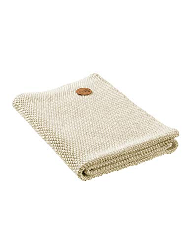 Bio Handtuch Perl-Strick-Qualität 100% Bio-Baumwolle (kbA) GOTS zertifiziert, Natur Melange, 50 x 70 cm