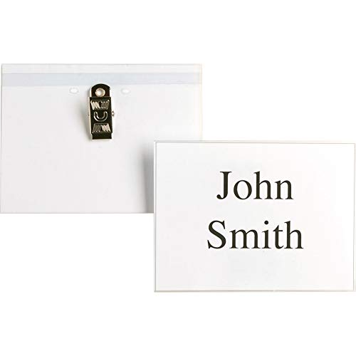 Business Source Name Badge Holder, Clear (01379) Photo #3