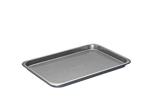 MasterClass Smart Space 7 Piece Non-Stick Stackable Bakeware Set: Roasting Pan, Square Cake Tin, Loaf Tin, Muffin Tray, Two Baking Trays and Cooling Rack, Gift Box