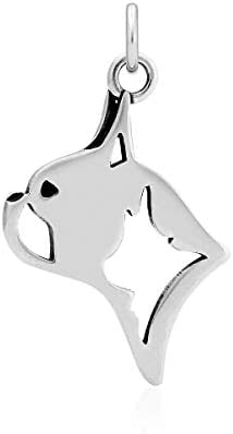 Sterling Silver Dutch Shepherd Pendant Head