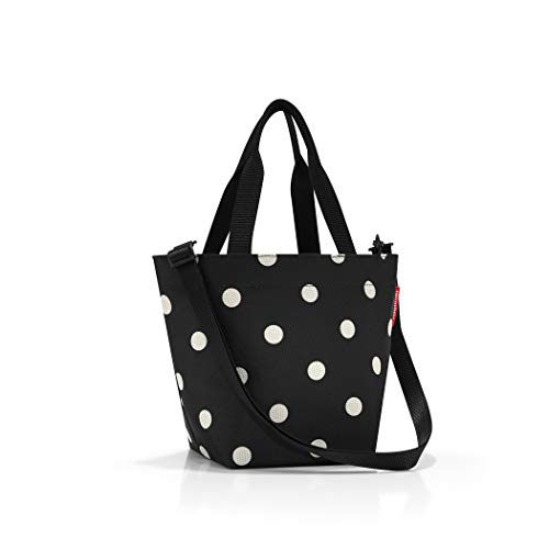 reisenthel Shopper XS, Extra Small Zippered Tote Bag with Shoulder Strap, Mixed Dots