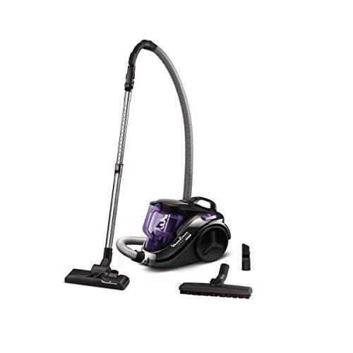 Moulinex - mo3759pa - Aspirateur sans sac 79db noir/violet compact power cyclonic parquet