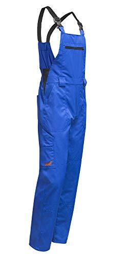 strongAnt® - Peto de Trabajo Hamburg Banda Elástica, easyClean, Aumento de Tejido en la rodillar, Limpieza fácil - Hecho en EU Talla: 54, Color: Azul