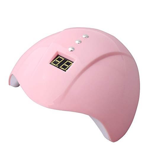 QWER Uñas secador del Clavo Mini portátil de la máquina Inteligente fototerapia de uñas de Secado rápido 36W Interfaz USB 12 Cuentas de luz Multi-Temporal Tiempo,Rosado