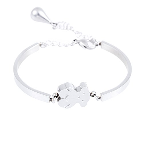 Ajcoflt Bear Twisted Chain Bracelet/bracelet 316l Titanium Steel Ladies Fashion Bracelet Party Bracelet