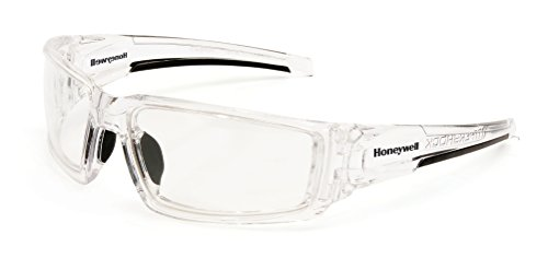 Uvex by Honeywell Hypershock Safety Glasses, Clear Frame with Clear Lens & Uvextreme Plus Anti-Fog Coating (S2970XP)