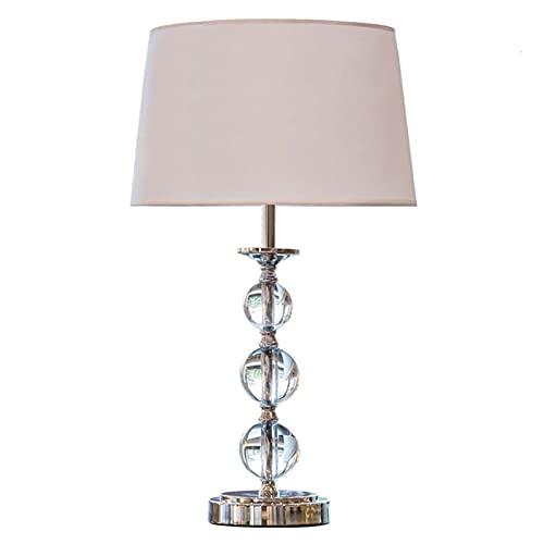 HUHAORAN2021 Lámparas de Mesa de Noche Lámpara de Mesa de Cristal Simple de 2 Piezas, Bola de Cristal apilada 22 Pulgadas Lámpara de Escritorio Dormitorio Sala de Estar