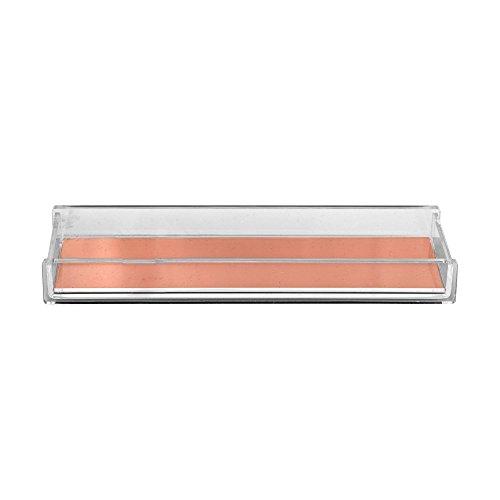 Bloomingville Clear Work - Plumier Transparent/Or de rose/LA7xLO21xH2,5 cm