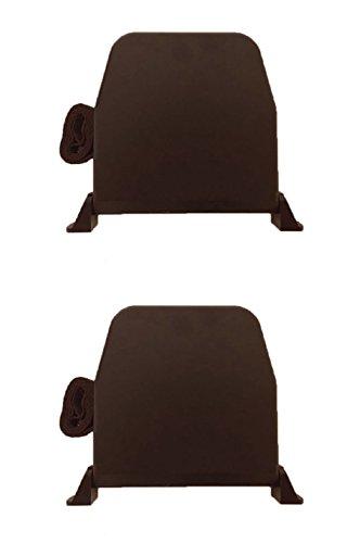 Gurtwickler Aufputz mit Scharniersystem braun mit 5m Gurt Aufschraubwickler aufklappbar Rollladen Gurt Mini 14 mm Gurtbreite