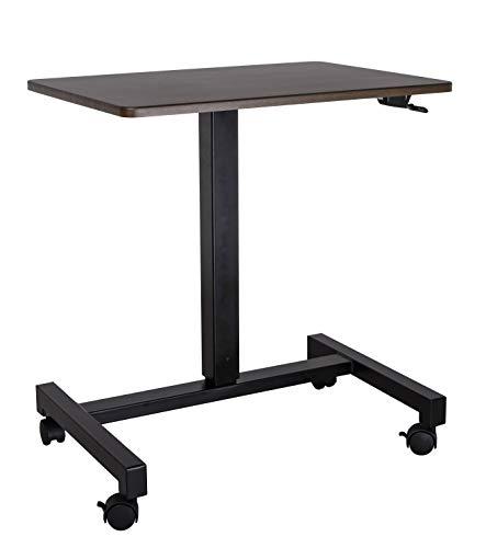 YULUKIA 100001B One Touch Sitz- und Ständer, höhenverstellbar, rechteckig, Schreibtisch, perfekter Spieltisch, Arbeitsplatz, Monitorständer, Projektorständer, Trainingstisch, Schwarz