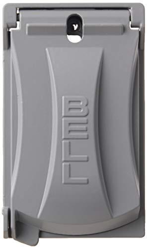 Hubbell Bell MX1050S Single-Gang Weatherproof Heavy Duty Universal Flip Cover Gray Finish