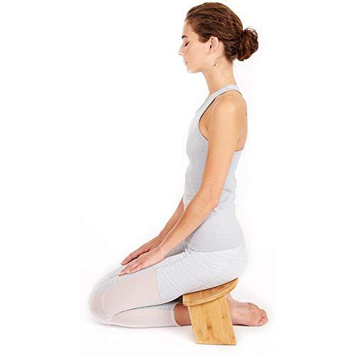 Meditationsbank, Bambus, Faltbarer Und Ergonomischer Meditationshocker, Stabile Gebetsbank Für Teezeremonien, Seiza, Yoga, Beten Und Gesünderes Sitzen, Tiefe Meditation