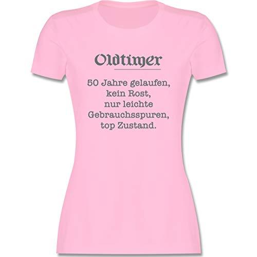 Geburtstag - 50 Jahre Oldtimer Fun Geschenk - M - Rosa - Tshirt 50 Jahre Frauen - L191 - Tailliertes Tshirt für Damen und Frauen T-Shirt