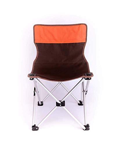 BSDBDF Camp Chaises Pliantes en Aluminium léger et Respirant avec Sac de Transport pour l'extérieur, Festival, Plage, randonnée Size Marron