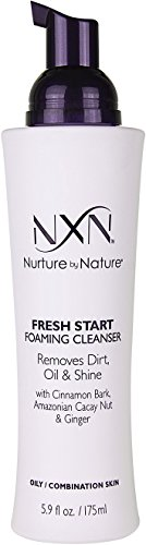 NxN Fresh Start Deep Pore Facial Cleanser Instant Foaming Make-Up Remover Natural Formula for Oily/Combination Skin, 5.9 Fl Oz