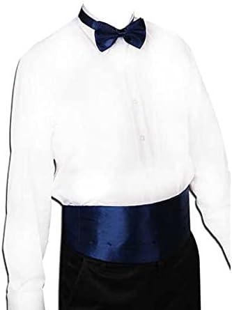 JJZXC Gentleman Solid Wide Silk Satin Elastic Belly Band Tuxedo Cummerbund Commercial Banquet Model Business Elite (Color : C)