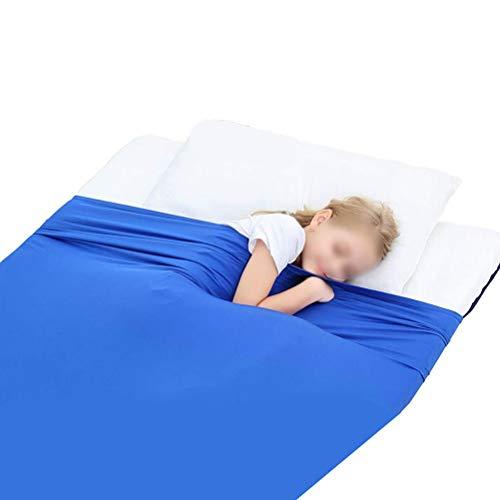 CHICTI Sensory Compression Blanket Kompressions-Bettlaken Für Kinder Atmungsaktiv Dehnbar Tiefer Druck Zum Entspannen Und Bequemen Schlafen (Size : 98x147cm/39x58in)