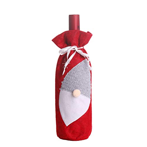 Amosfun Vino Decoraciones navideñas Botella de vino Abrigo Protector de vino Bolsa...