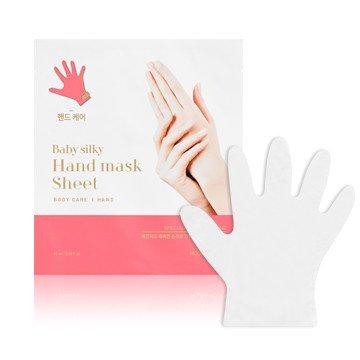 Holika Holika - Guantes Mascarilla 2 x 15 ml - Baby Silky Hand Mask Sheet - 1 unidad