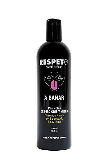 RESPET Republic of Pets Shampoo para Perros con Pelo Gris y Negro de 475 ml