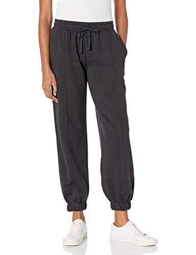 The Drop Women's Dominique Washed Fleece Coverstitched Utility Jogger