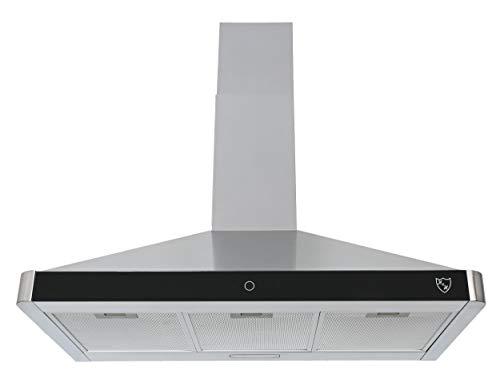 K&H® 90cm Dunstabzugshaube, Wandhaube, LED, 550 m³/h, Energieklasse B, Metall-Fettfilter PS-90