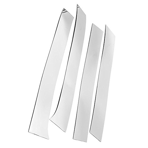 Ormax Brand New Durable Quality Stainless Steel Chrome Pillar Post Trim for 2009-2017 Dodge Ram 1500 2-Door Regular Cab 4pc