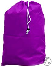 Purple : Purple Laundry Bag with Drawstring, Grommets, Medium Size: 24x36