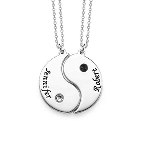 Engraved Yin Yang Necklace