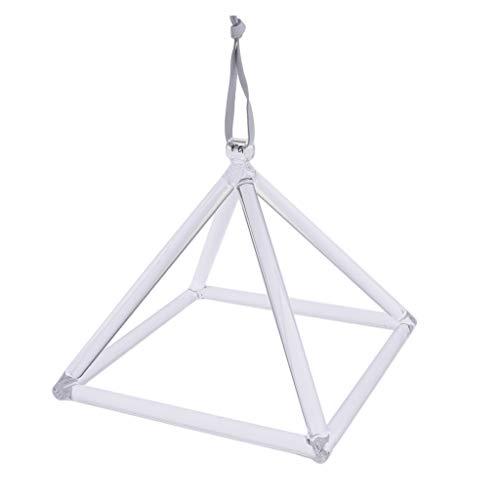 Sharplace 1 Pieza de Pirámides Cantantes de Cristal de Cuarzo Transparente Cuenco Cantor de Cristal de 8'