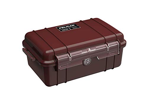 Pelican 1050 Micro Case - for iPhone, GoPro, Camera, and more (Oxblood)