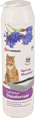 FLAMINGO Désodorisant pour Litière Deo Cat Spring Meadow Spray 750 g