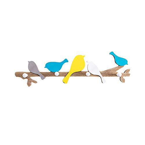 MEHE@ Porte-manteau ménage mural solide bois crochet serviette sac à main cravate porte-parapluie 48 * 13cm (Couleur : B)