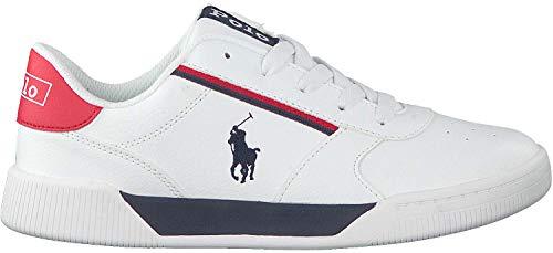 Polo ralph lauren - sneaker keelin ragazzo - 36 - bianco-blu-rosso