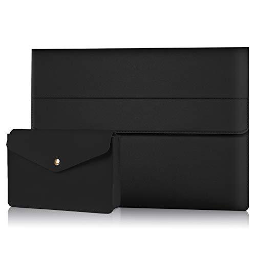 Alfheim Funda para portátil de Cuero de 13-13,3 Pulgadas, Impermeable & Estuche Protector Delgado, Cubierta de maletín sintético magnético con Bolsa pequeña para Macbook Pro Air/Surface/DELL