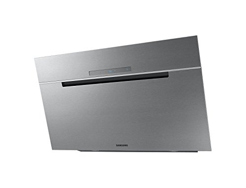 Hotte decorative murale Samsung NK36M7070VS - Hotte aspirante Pan incliné - largeur 90 cm - Débit d'air maximum (en m3/h) : 760 - Niveau sonore Décibel mini. / maxi. (en dBA) :  - / 69