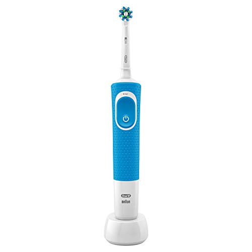 Oral-B Vitality 100 Crossaction Elektrische Zahnbürste Blau, Powered by Braun