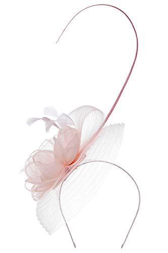 Roman Originals Tocado para mujer, con plumas, diseño floral, ideal para bodas,...