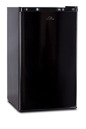 Commercial Cool CCR32B Compact Single Door Refrigerator and Freezer, 3.2 Cu. Ft. Mini Fridge, Black