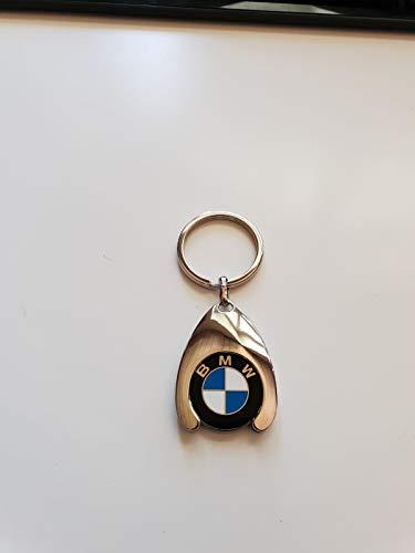 Unbekannt Original BMW Schlüsselanhänger mit Einkaufswagenchip, verchromt, Top Qualität