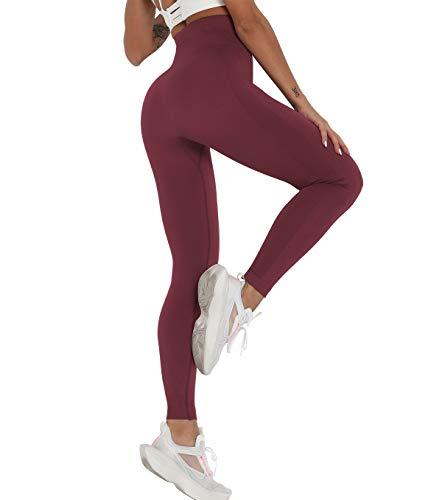 KIWI RATA Leggins Mujer Cintura Alta Mallas Pantalones Fitness Yoga Leggings Deportivos sin Costuras Suaves Elásticos y Ajustados para Running Deporte Estiramiento