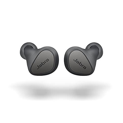 Jabra Elite 3 In Ear Bluetooth Earbuds - True Wireless Kopfhörer mit Geräuschisolierung und 4 integrierten Mikrofonen - klare Anrufe, kraftvoller Bass, anpassbarer Sound und Mono-Modus - dunkelgrau
